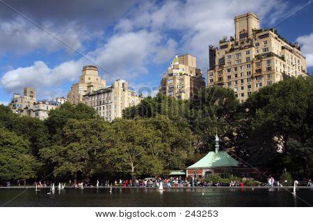 Boat Pond In Central Park