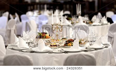 Serving Festive Meal In A Restaurant