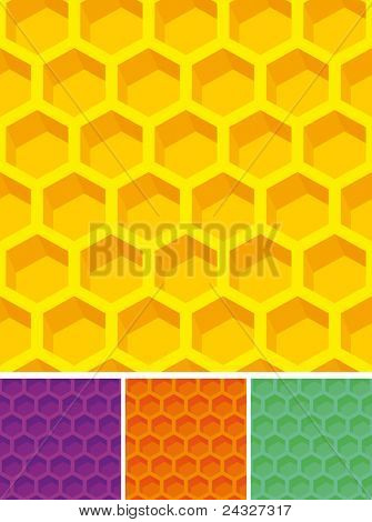 Completely seamless honeycomb patterns