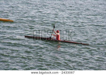 Boy Doing Canoe