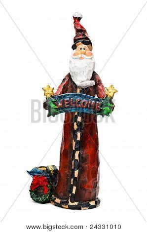 Vintage Wooden Santa Claus