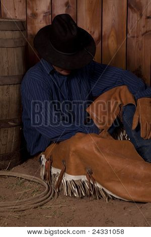 Cowboy Sit vom Fass