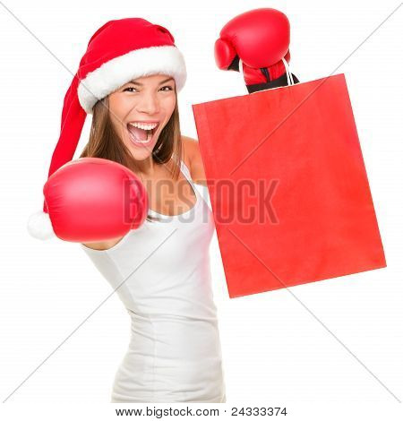 Boxing Day Shopping Woman