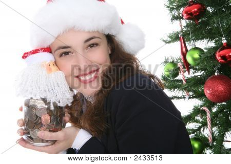 Christmas Woman With Money
