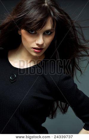 Fashion Portrait Of The Beautiful Young Women