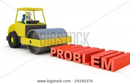 Businessman Solving The Problem