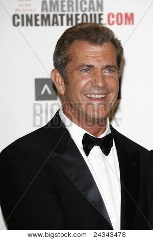 BEVERLY HILLS, CA - OCTOBER 14: Mel Gibson at the 25th American Cinematheque Award Honoring Robert Downey Jr. held at The Beverly Hilton hotel on October 14, 2011 in Beverly Hills, California