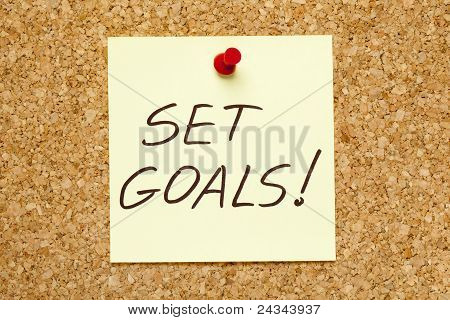 Set Goals! On Cork Board