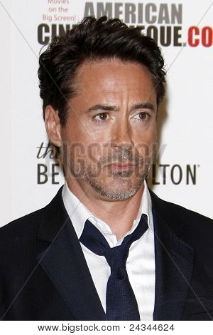 LOS ANGELES - OCT 14:  Robert Downey Jr arriving at the 25th American Cinematheque Award Honoring Robert Downey Jr. at the Beverly Hilton Hotel on October 14, 2011 in Beverly Hills, CA