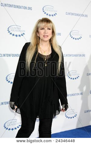 """.LOS ANGELES - OCT 14:  Stevie Nicks arriving at the Clinton Foundation """"Decade of Difference"""" Gala at the Hollywood Palladium on October 14, 2011 in Los Angelees, CA"""