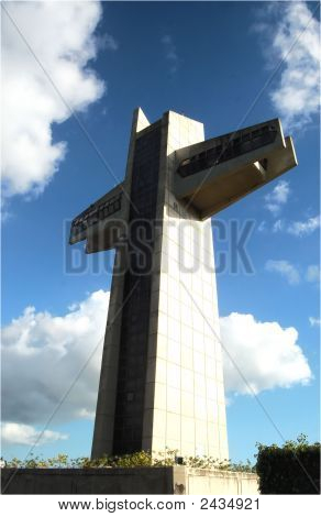 300' Tall Cross In Puerto Rico