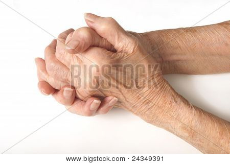 Old Ladies Hands Clasped