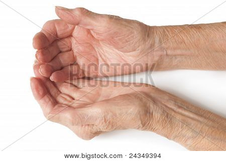 Old Ladies hands