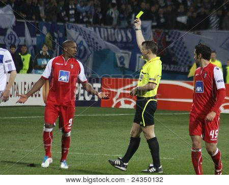 Referee Shows The Yellow Card