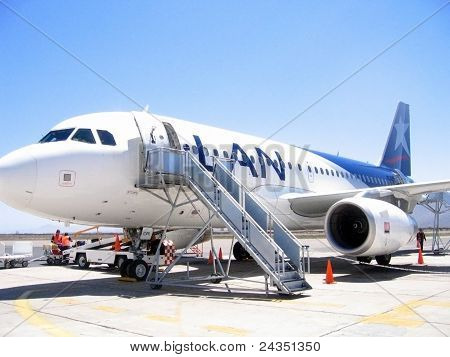 Chilean airline LAN - Airbus A318 in La Serena airport