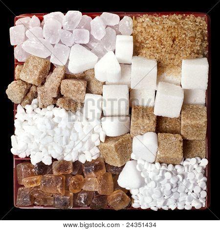 Various sugar  in  box