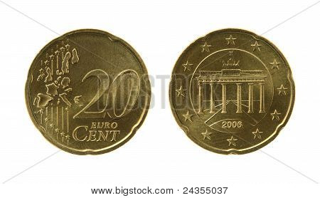 Twenty Eurocents Coin