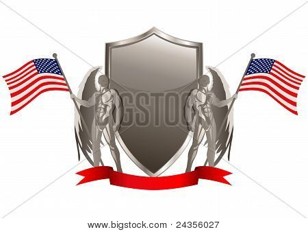 Silver Emblem Of USA