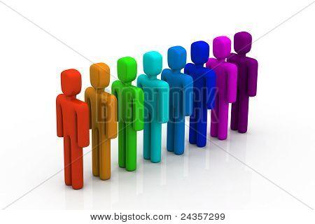 soziale Netzwerk Mitglieder