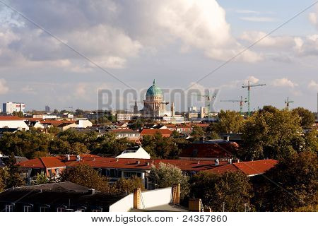 View Of Potsdam, Germany, With The Garnisionskirche (garrison Church) In The Center (landscape)