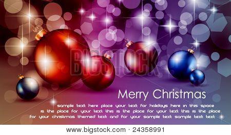 High tech rainbow Chrstmas background for corporate business greetings flyer or presentation