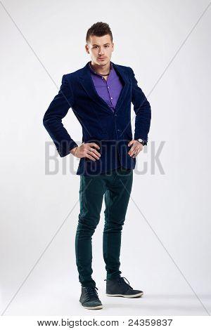 smart guy standing