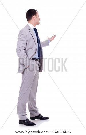 Business Man Presenting