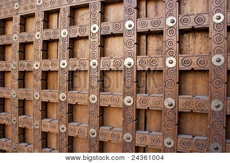 Traditional Wooden Door In Timbuktu.