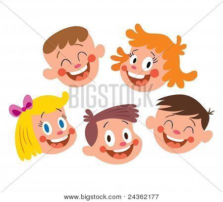 Cara de niño feliz caricatura - Imagui