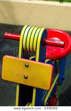 Close Shot Of Toy Bicycle