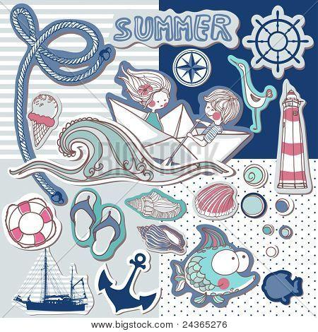 nautical scrapbook set