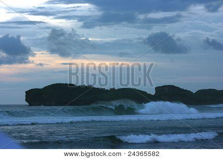 dark blue beach