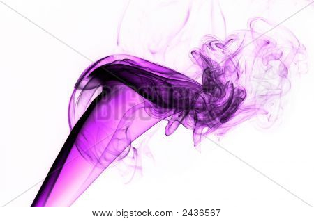 Pink Smoke on white background