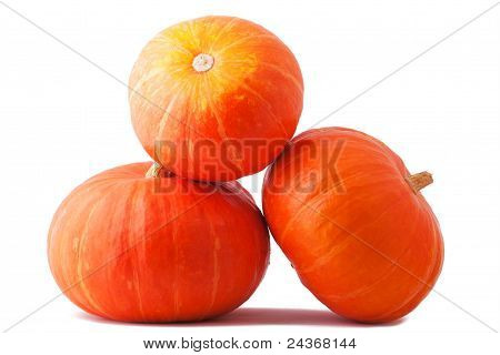 Three Halloween Pumpkin