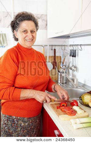 Senior Woman In The Kitchen