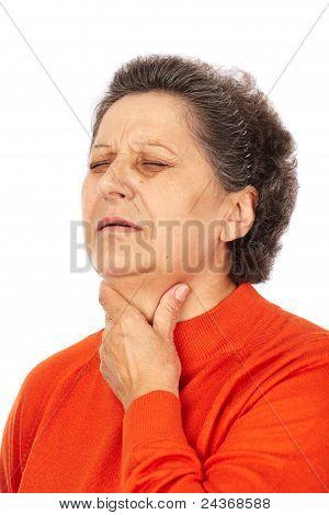 Old Woman With Laryngitis