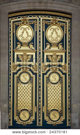 Main Entrance Door Of Les Invalides, Paris