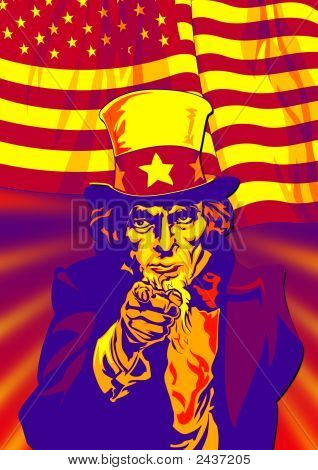 Flag With Uncle Sam