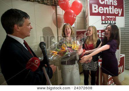 Chris Bentley Re-elected.