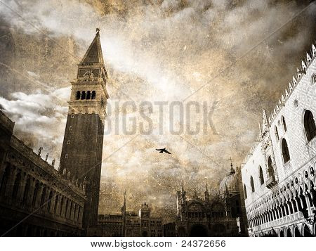 San-Marco. Cartão postal retrô