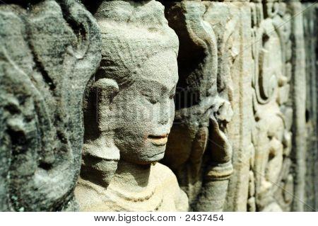Sculptured Apsara, Siem Reap, Cambodia