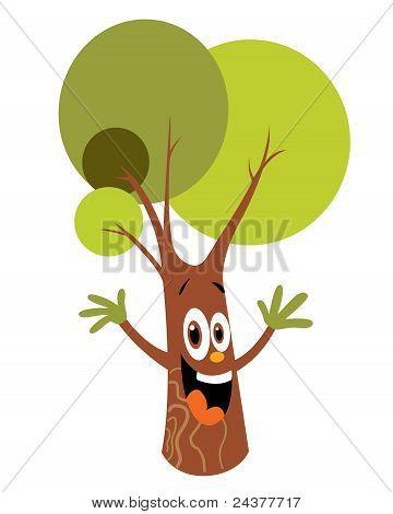 Cartoon tree character