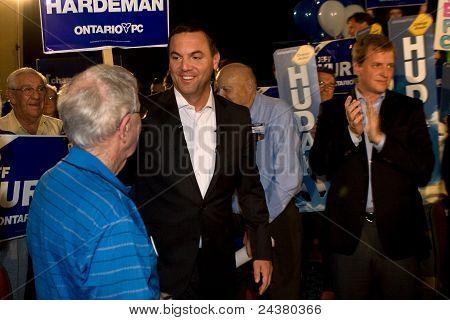 Tim Hudak Kampagnen für 2011 Ontario Wahl
