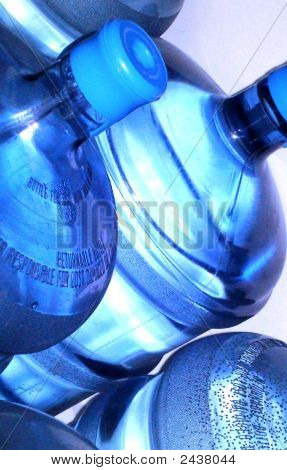 Close-Up Of Large Water Bottles