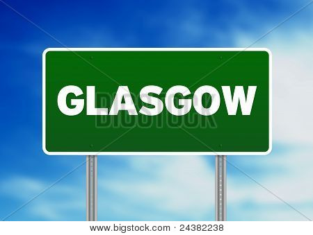 Green Road Sign -  Glasgow, England