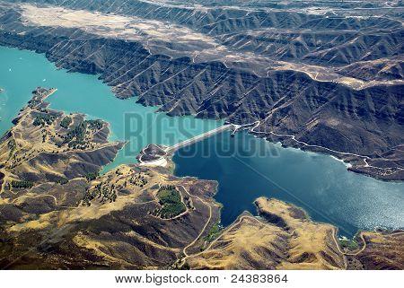 Arid Mountain Lake & Dam
