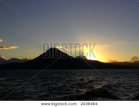 Sunset On The Lake Atitlan