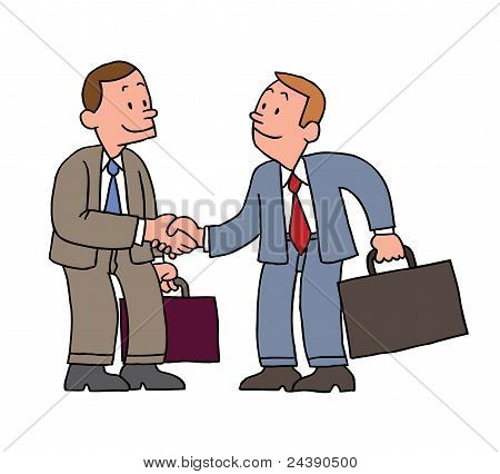 Businessman handshake