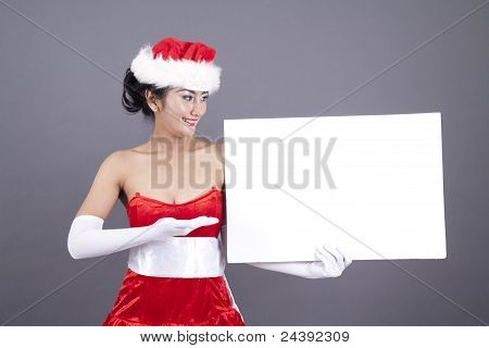 Woman With A Blank Sign