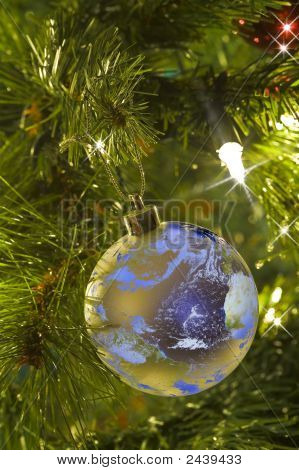 Earth As A Christmas Tree Ornament